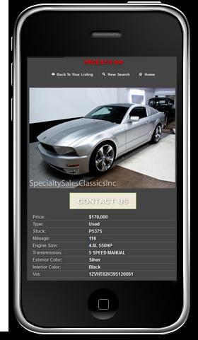 mobile dealer website design